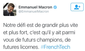 voeux macron French Tech