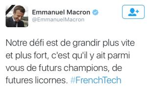 voeux macron French Tech
