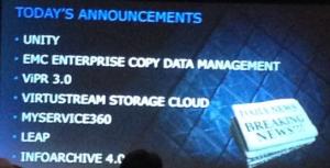 EMC annonces 2 mai